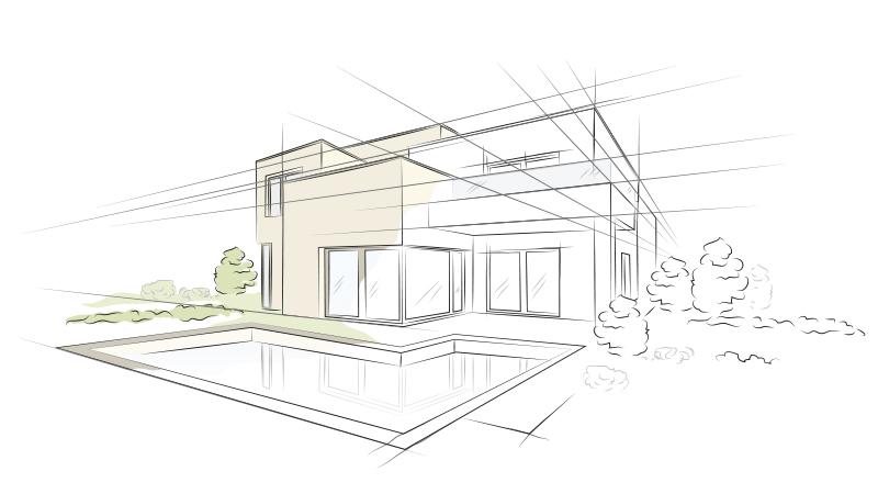 Disegno progetto architetto