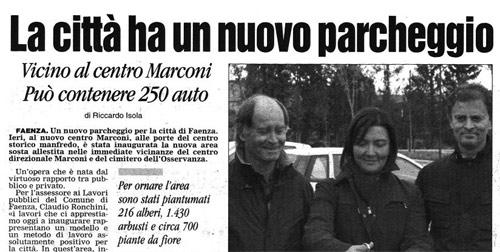 Nuovo parcheggio Faenza