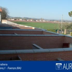 Veduta panoramica su patio di Borgo Cavaliera