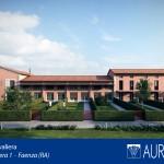 Rendering fronte unità immobiliari Borgo Cavaliera