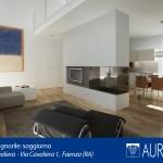Rendering interno villa dimora Borgo Cavaliera