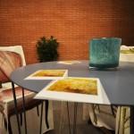 Particolare tavolo nel patio
